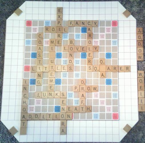 A nice Scrabble II board.
