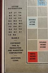 Scrabble board, 1948 (click to enlarge.)