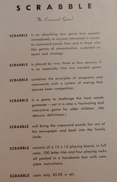 Scrabble Dating Of Your Scrabble Set 1948 Through 1999 Scrabble