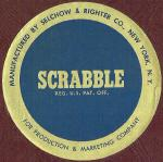 Foil 1958 SCRABBLE sticker (click to enlarge.)