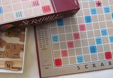 Coleco Scrabble board with Triple Letter Score goof (click to enlarge.)