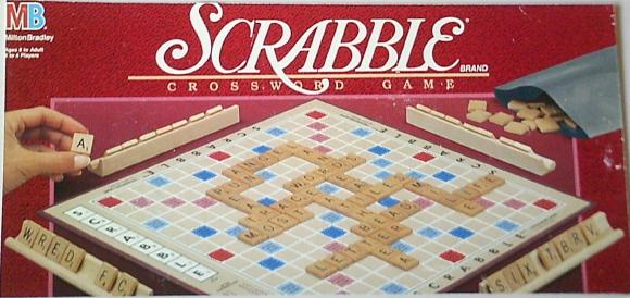 1989-1999 Milton Bradley period Scrabble box.