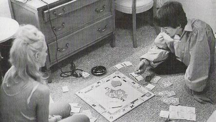 George and Jackie DeShannon  playing Monopoly.