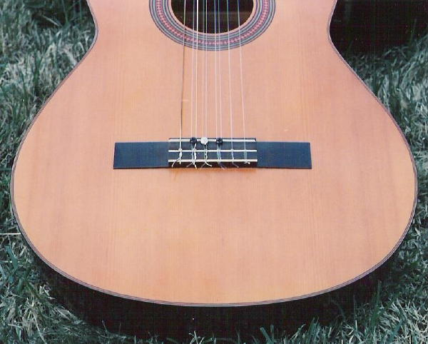 Bridge with double-stringing.