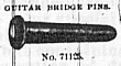 Bridge pin, No. 71125.